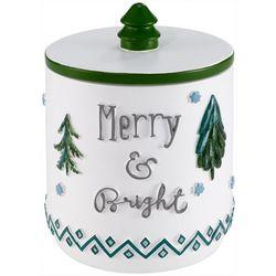 Avanti Christmas Trees Bathroom Jar