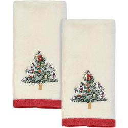 Christmas Tree 2-pc. Fingertip Towel Set