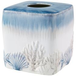 Abstract Coastal Tissue Box Cover