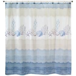 Abstract Coastal Shower Curtain