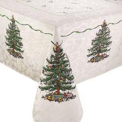 Spode Christmas Tree Green Tablecloth
