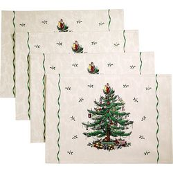 4-pk. Christmas Tree Green Placemats