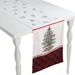Christmas Tree Tartan 108 Inch Table Runner