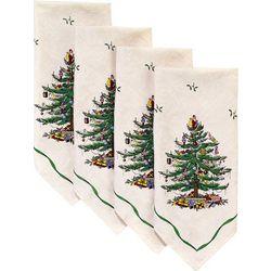 4-pk. Christmas Tree Green Napkins