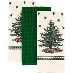Spode Christmas Tree 3-pc. Printed Kitchen Towel Set