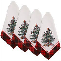 Spode 4-pk. Christmas Tree Napkins