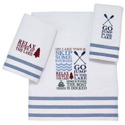 Avanti Lake Words Towel Collection