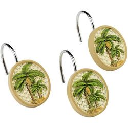 Colony Palm 12-pc. Shower Curtain Hooks