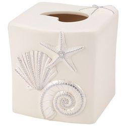 Avanti Blue Sequin Shell Tissue Box Cover