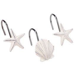 Sequin Shell 12-pc. Shower Curtain Hooks
