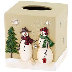 Avanti Snowman Gathering Tissue Box Cover