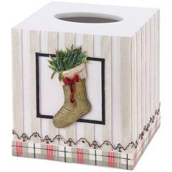 Avanti Farmhouse Holiday Tissue Box Cover