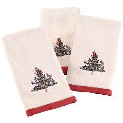 Avanti Spode Tree 3-pc.Fingertip Towel Set