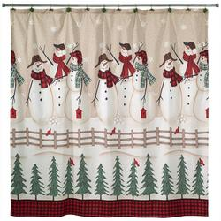 Snowmen Gathering Shower Curtain