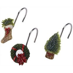 Avanti Farmhouse Holiday 12-pc. Shower Curtain Hooks