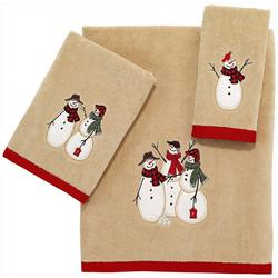 Snowman Gathering Towel Collection