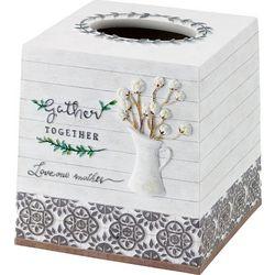Avanti Modern Farmhouse Tissue Box Cover
