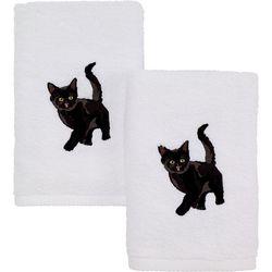 Avanti Black Cat 2-pc. Hand Towel Set