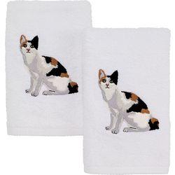 Avanti Calico Cat 2-pc. Hand Towel Set