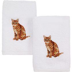 Avanti Tabby Cat 2-pc. Hand Towel Set