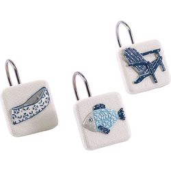Avanti Lake Life 12-pc. Shower Curtain Hooks
