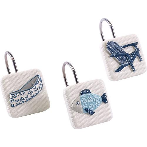 Avanti Lake Life 12 Pc Shower Curtain Hooks