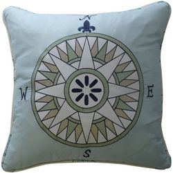 Waverly Kids Buon Viaggio Embroidered Pillow