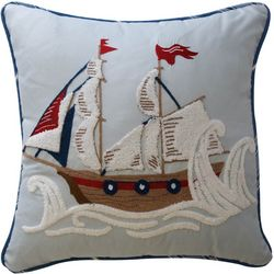 Waverly Kids Ride The Waves Pirate Ship Pillow