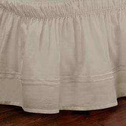 Waverly EasyFit Adjustable Embroidered Bed Skirt