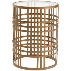 FirsTime Woven Brass Side Table