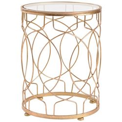 FirsTime Gold Loop Side Table