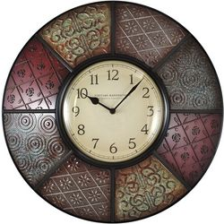 FirsTime 20.5'' Patchwork Wall Clock