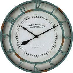 FirsTime 11'' Timeworn Aqua Clock