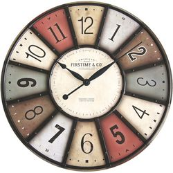 FirsTime 27'' Color Motif Wall Clock