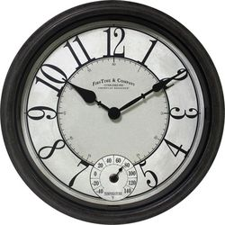 FirsTime Isle Patina Outdoor Wall Clock