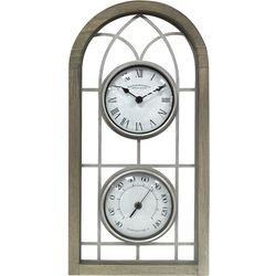 FirsTime Farmhouse Arch Outdoor Clock & Thermometer