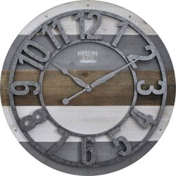 FirsTime 27'' Shabby Planks Wall Clock