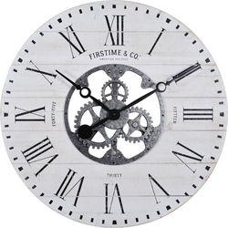 FirsTime 27'' Shiplap Gears Wall Clock