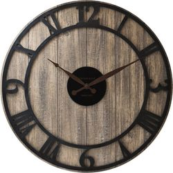 FirsTime 18'' Finley Planks Wall Clock