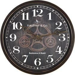 FirsTime 12'' Industrial Gears Wall Clock