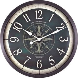 FirsTime 24'' Compass Rose Wall Clock