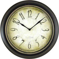 FirsTime 9.75'' Distressed Plastic Wall Clock