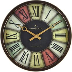 FirsTime 12'' Prismatic Wall Clock