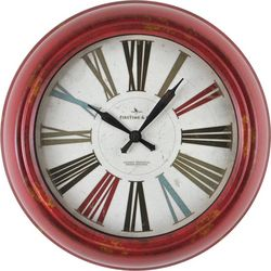 FirsTime 10'' Red Relic Wall Clock