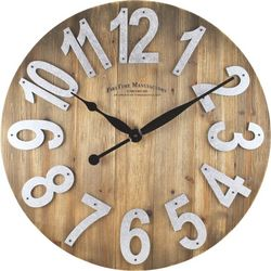 FirsTime 22'' Slat Wood Wall Clock
