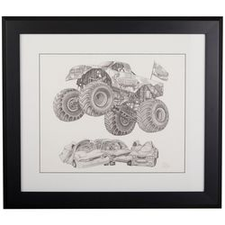 Linnea Szymanski 'Smash' Original Drawing Framed Art