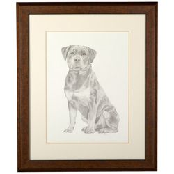 Linnea Szymanski 'Rory' Original Drawing Framed Art
