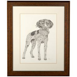 Linnea Szymanski 'Good Boy Too' Original Drawing Framed Art