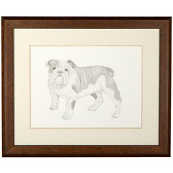 Linnea Szymanski 'Bailey' Original Drawing Framed Art