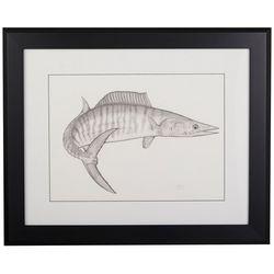 Linnea Szymanski 'Wiley Wahoo' Original Drawing Framed Art